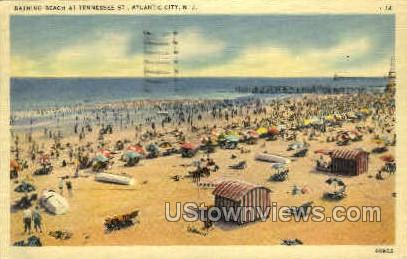 Beach, Tennesse St. - Atlantic City, New Jersey NJ Postcard