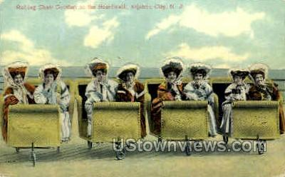 Rolling Chairs, Boardwalk - Atlantic City, New Jersey NJ Postcard
