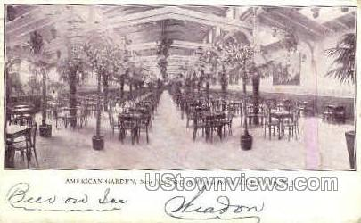 American Garden, Boardwalk - Atlantic City, New Jersey NJ Postcard