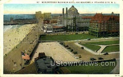 Marlborough Blenheim Hotel & Boardwalk - Atlantic City, New Jersey NJ Postcard