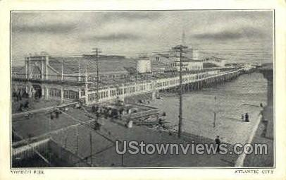 Young' Pier - Atlantic City, New Jersey NJ Postcard