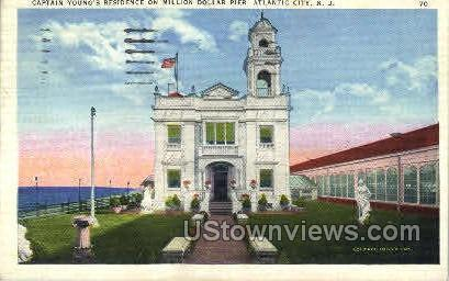Capt Youngs Residence, Million Dollar Pier - Atlantic City, New Jersey NJ Postcard