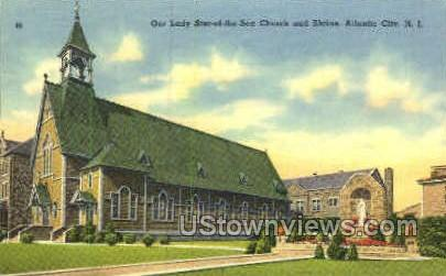 Lady Star of the Sea Church & Shrine - Atlantic City, New Jersey NJ Postcard