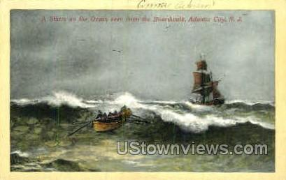 Ocean - Atlantic City, New Jersey NJ Postcard