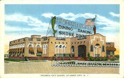 Atlantic City Casino - New Jersey NJ Postcard