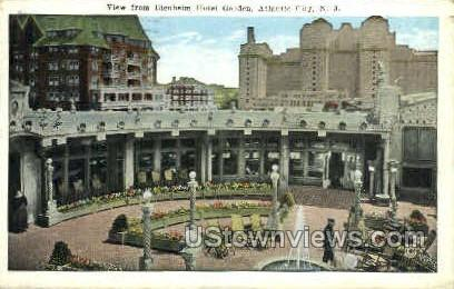 Blenheim Hotel Garden - Atlantic City, New Jersey NJ Postcard