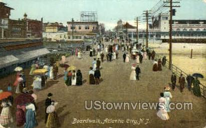 Boardwalk - Atlantic City, New Jersey NJ Postcard