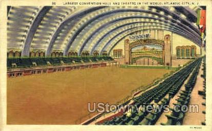 Convention Hall & Theatre - Atlantic City, New Jersey NJ Postcard