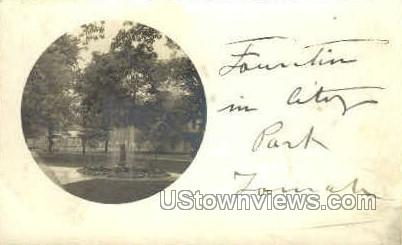 Fountain in City Park - Misc, New Jersey NJ Postcard