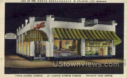 Kents Restaurant - Atlantic City, New Jersey NJ Postcard