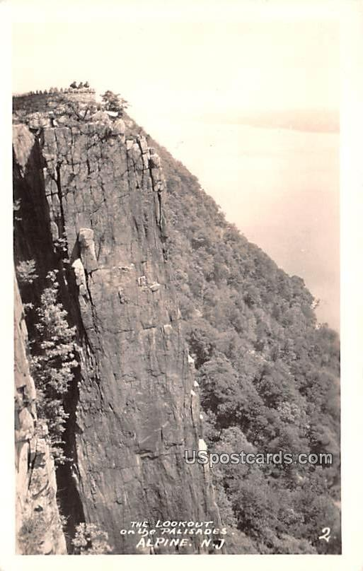 The Lookout on the Palisades - Alpine, New Jersey NJ Postcard