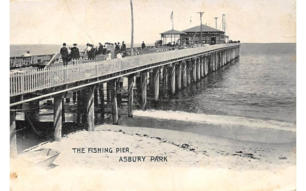 The Fishing Pier Asbury Park, New Jersey Postcard