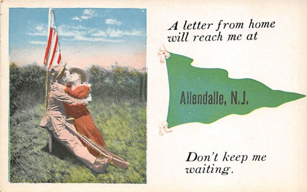 A letter from home will Allendale, New Jersey Postcard