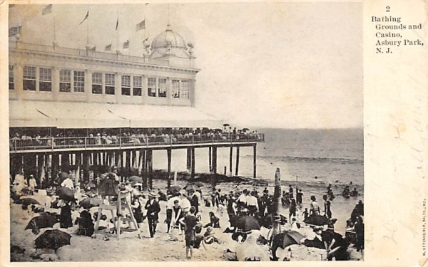 Bathing Grounds and Casino Asbury Park, New Jersey Postcard