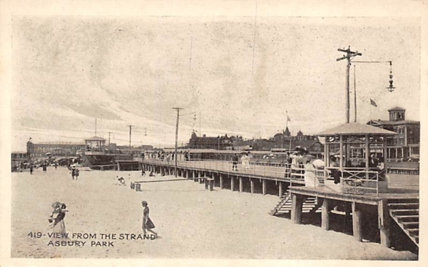 View from The Strand Asbury Park, New Jersey Postcard
