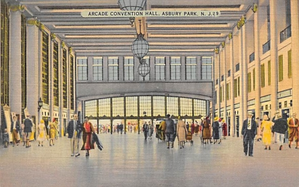 Arcade Convention Hall Asbury Park, New Jersey Postcard