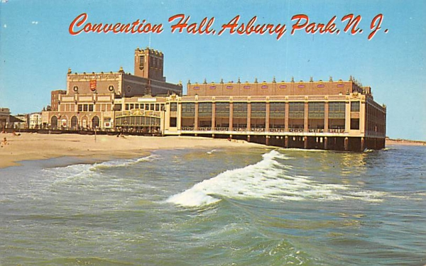 Convention Hall Asbury Park, New Jersey Postcard