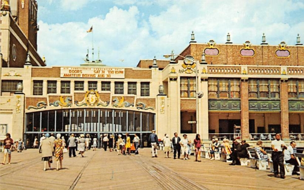 Convention Hall at Asbury Park New Jersey Postcard