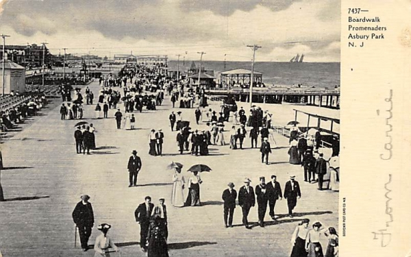 Boardwalk Promenaders Asbury Park, New Jersey Postcard