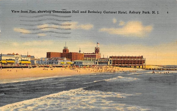 Convention Hall and Berkeley Cartaret Hotel Asbury Park, New Jersey Postcard