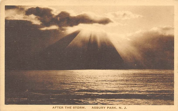 After the Storm Asbury Park, New Jersey Postcard