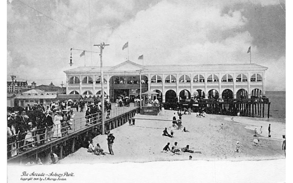 The Arcade  Asbury Park, New Jersey Postcard