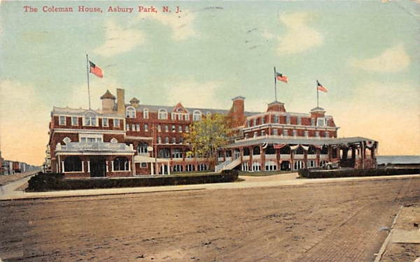 The Coleman House Asbury Park, New Jersey Postcard