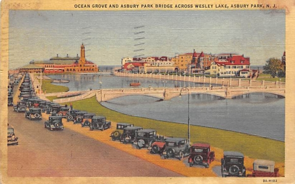 Ocean Grove and Asbury Park New Jersey Postcard