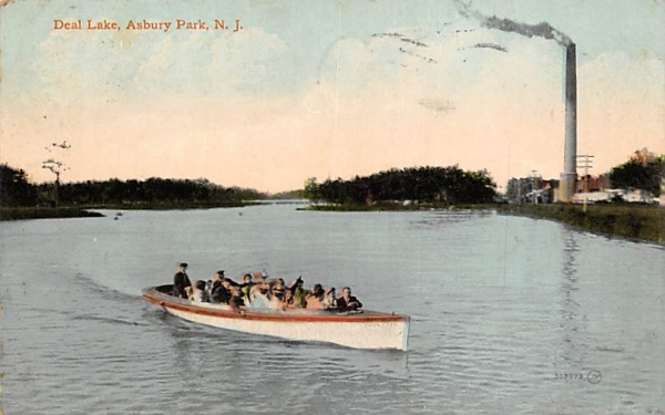 Deal Lake Asbury Park, New Jersey Postcard