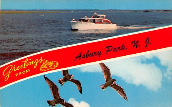 Greetings from Asbury Park New Jersey Postcard