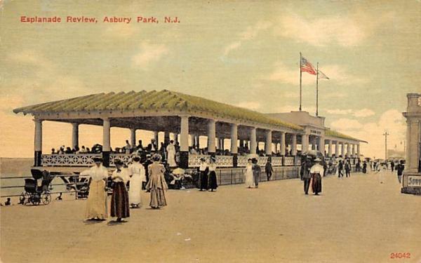 Esplanade Review Asbury Park, New Jersey Postcard
