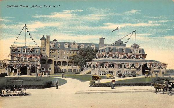 Coleman House Asbury Park, New Jersey Postcard