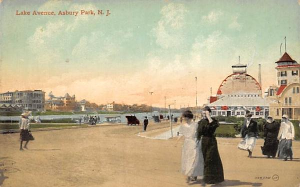 Lake Avenue Asbury Park, New Jersey Postcard