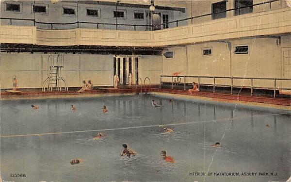 Interior of Natatorium Asbury Park, New Jersey Postcard