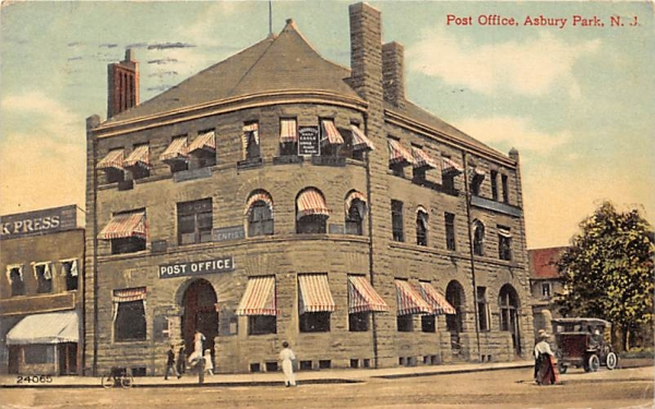 Post Office Asbury Park, New Jersey Postcard