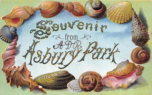 Souvenir from Asbury Park New Jersey Postcard