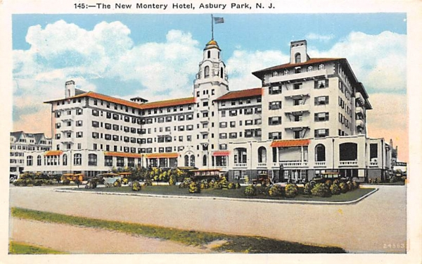 The New Montery Hotel Asbury Park, New Jersey Postcard