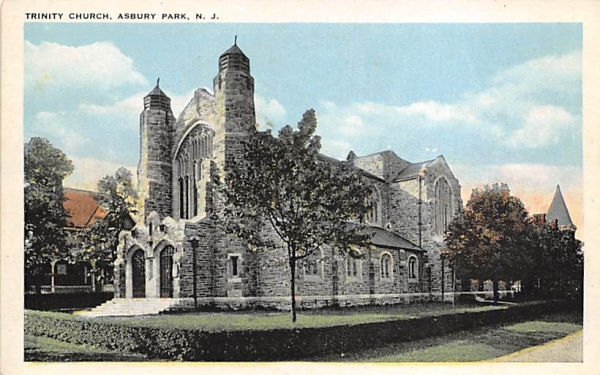 Trinity Church Asbury Park, New Jersey Postcard