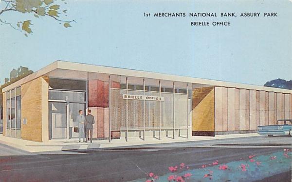 1st Merchants National Bank, Brielle Office Asbury Park, New Jersey Postcard