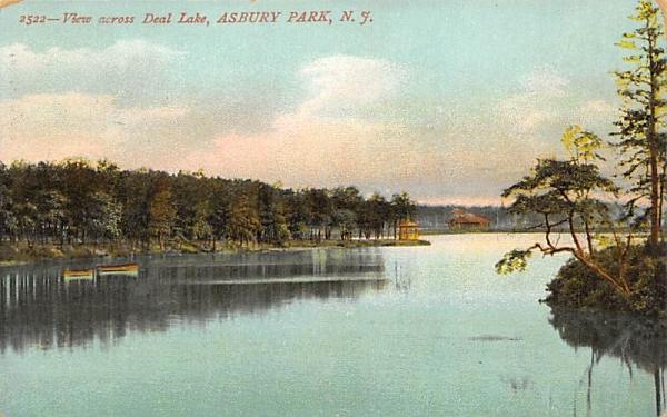 View across Deal Lake Asbury Park, New Jersey Postcard