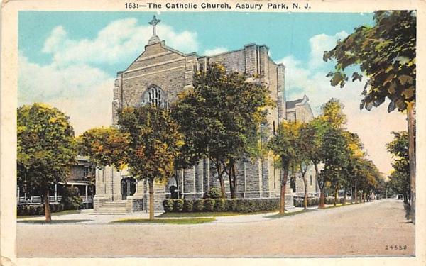 The Catholic Church Asbury Park, New Jersey Postcard