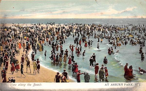 View along the Beach Asbury Park, New Jersey Postcard