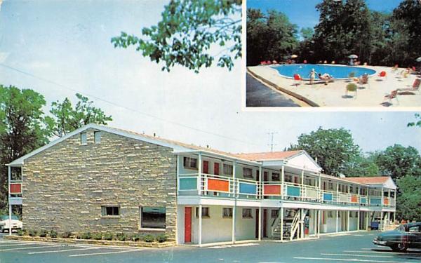 Park Motel Asbury Park, New Jersey Postcard