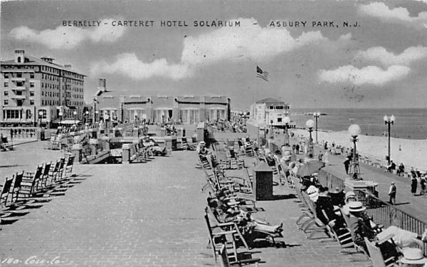 Berkeley-Carteret Hotel Solarium Asbury Park, New Jersey Postcard