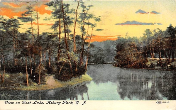 View on Deal Lake Asbury Park, New Jersey Postcard
