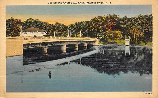 Bridge over Deal Lake Asbury Park, New Jersey Postcard