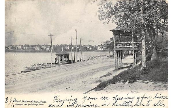 Deal Lake Asbury Park, New Jersey Postcard