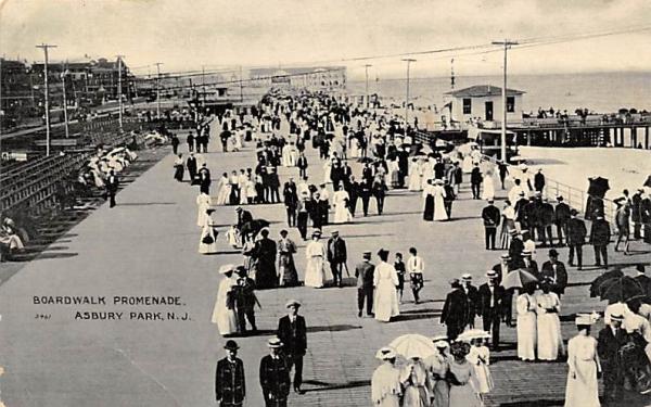 Boardwalk Promenade Asbury Park, New Jersey Postcard