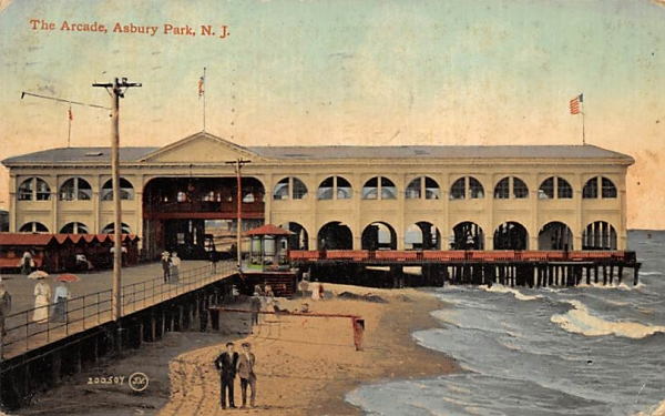 The Arcade Asbury Park, New Jersey Postcard