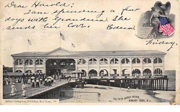 The Fifth Avenue Arcade Asbury Park, New Jersey Postcard